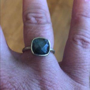 Gold ring w/ grayish stone